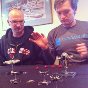 Playing X Wing Miniatures